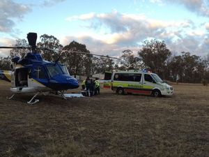 Two airlifted after single-vehicle crash at Ballogie