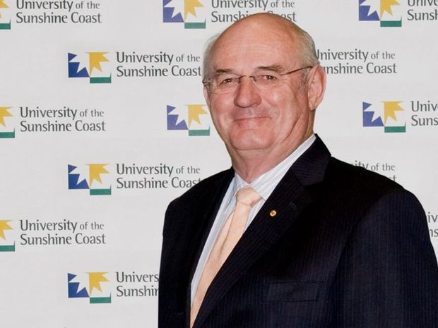 John Dobson OAM has been re-elected unopposed as the University of the Sunshine Coast's Chancellor for a second five-year term starting in April. Photo: Contributed