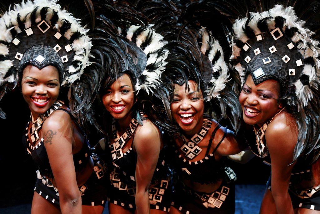 Cirque Mother Africa performers Silethemba Magonya, Brenda Mafojane, Bongi Mtshali and Noma Mkwananazi.