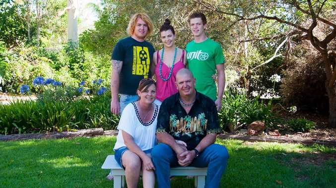 FAMILY PHOTO: Adam Hatch with sister Letitia Commerford,brother Corey Hatch and parents Tracey and Warren.