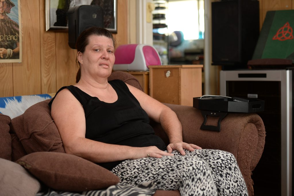Dianne Barnett robbed on Sunday as she sat at home watching movies. Photo Allan Reinikka / The Morning Bulletin