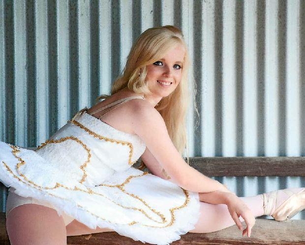 ON POINTE: Bundaberg ballerina Leisa Petersen had been accepted into The Joffery Ballet School in New York.