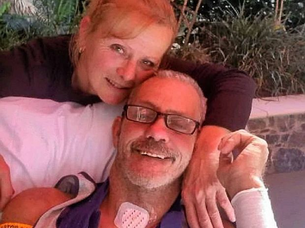 RECOVERING: Lyn and Shane Shorten when Shane was first out of intensive care.