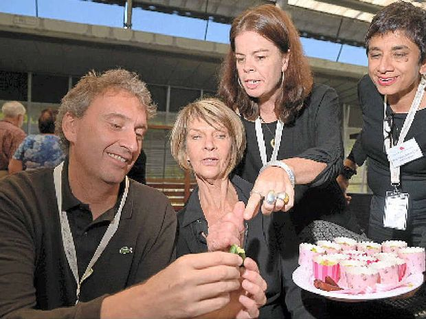 FOOD ISSUES: The Slow Food Australia National Meeting came to Noosa. Paolo di Croce, Erika Hackett, Elena Aniere and Amorelle Dempster get into the slow mood.