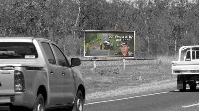 A series of billboards in Queensland are reminding drivers to take care on the roads.