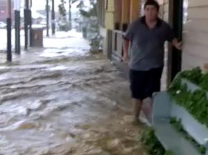 Rosewood's main street floods