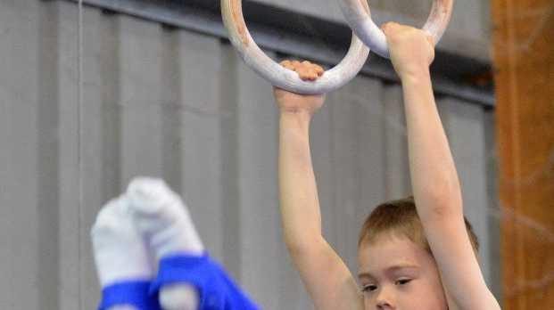 Junior Gymnastics at the Maroochy Beach Gymnastics Club. Jack Menkens. Photo: Warren Lynam / Sunshine Coast Daily