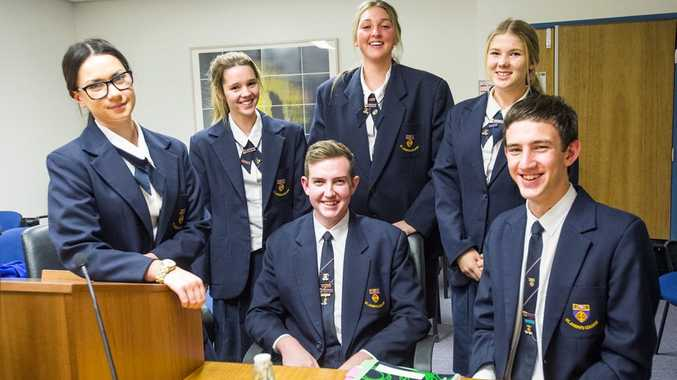 The St Joseph's team have been excelling during the Secondary Schools Moot Court Competition (back from left) Alex Edwards, Rebecca Smith and Rachel Stower and finalists (front from left) Stephanie McCormack, Ryan McCullough and Keanan Benton.