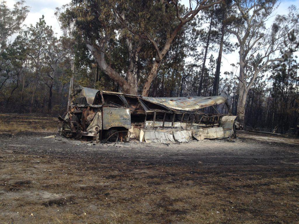 PLENTY OF HEAT: A bushfire at Kungala has left a trail of damage.