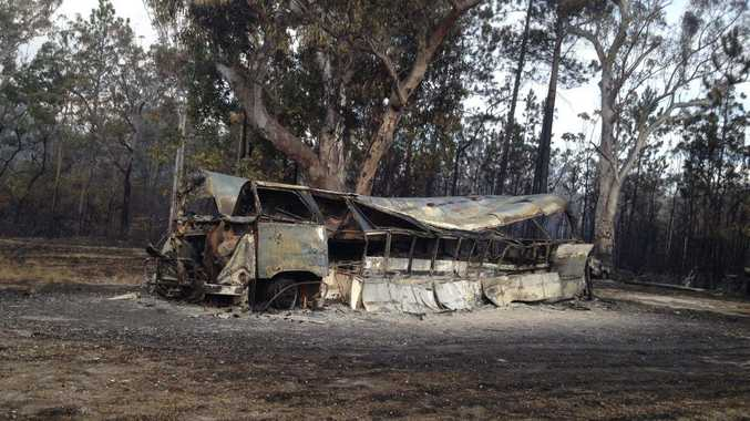 PLENTY OF HEAT: A bushfire at Kungala has left a trail of damage.