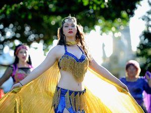 Glittering festival has belly dancer inspired