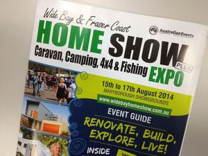 Program for caravan, camping, fishing show in paper