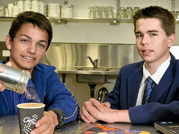 GREAT WORK RECOGNISED: Bremer SHS students Clint Franke and Joshua Curson were finalists in the regional training awards.
