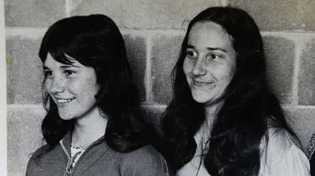 An old photo of Michelle Sawyers and Gail Williams ahead of the club's 35th anniversary.