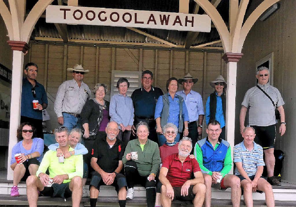 ON BOARD: Somerset Mayor Graeme Lehmann met with trail riders in Toogoolawah.