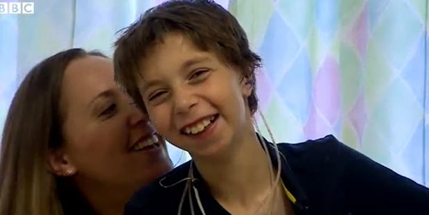 Louise Sorkin, left, provided the model for son Kieran Sorkin's new ears.