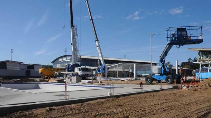 Works are still in progress at Gatton Aquatic Centre
