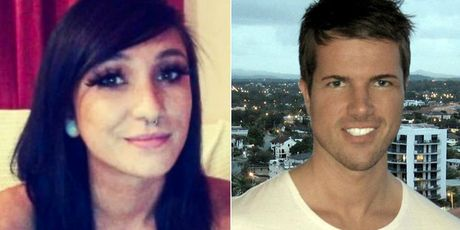 Gable Tostee (right)  logged back on to Tinder just days after Rrie Wright's death.
