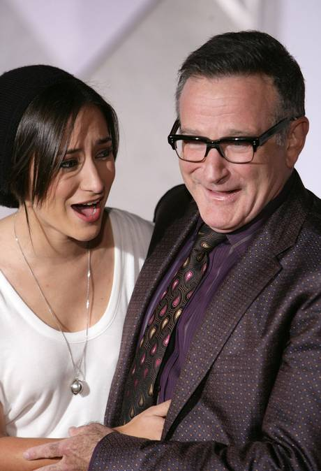 Zelda and Robin Williams, at the premiere of Old Dogs together in 2009