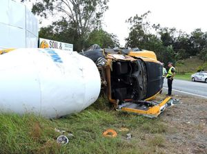 Cement truck rolls on Bruce Hwy