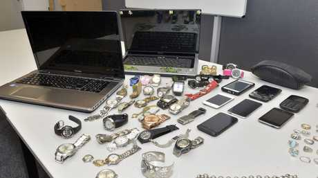 RICH PICKINGS: Suspected stolen property seized by police, on display at Yamanto Police Station, as part of Operation Lima Quantity which also netted drugs.