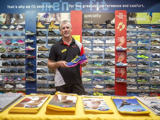 Manager of Athletes Foot Grafton James Stanmore. Photo: Adam Hourigan / The Daily Examiner