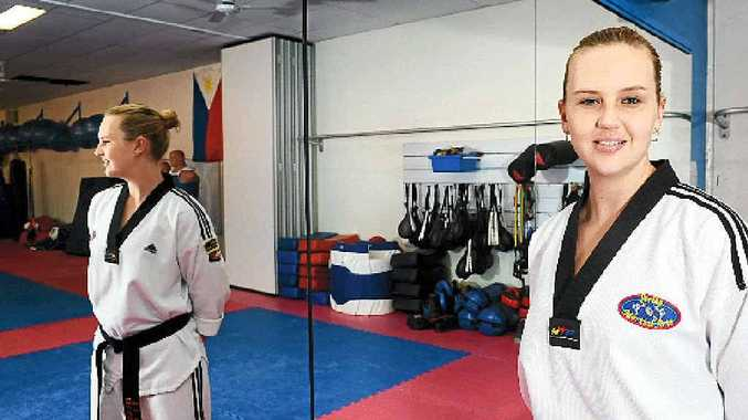 KARATE QUEEN: Bec Washington, of Ballina, is No.1 in Australia for martial arts, and is heading to Sydney in October to compete in the Karate World Cup.