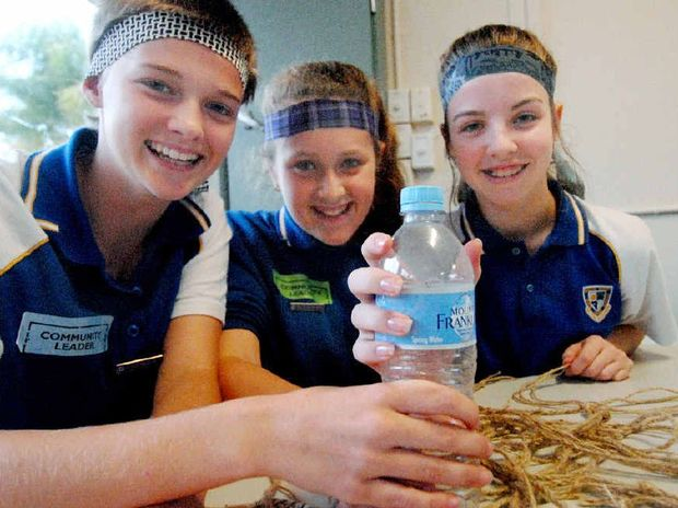 GIVING IT UP: Ellie Nixon, Taniesha Williams and Mickeeley Sippel will be consuming only water this weekend as part of the 40 Hour Famine.