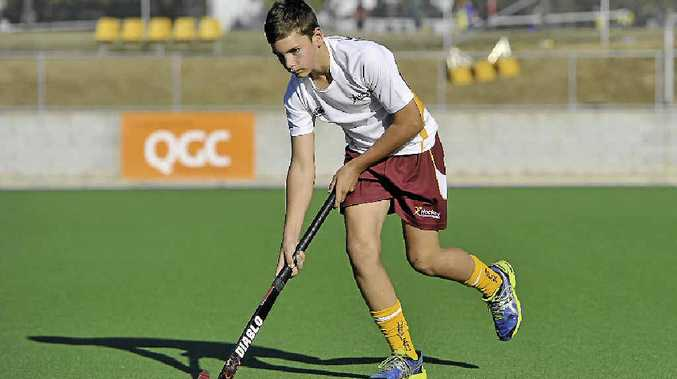 STICKING TO IT: Ronan McGuire, 12, is this has made his second Queensland Hockey team and will travel to Adelaide in October.