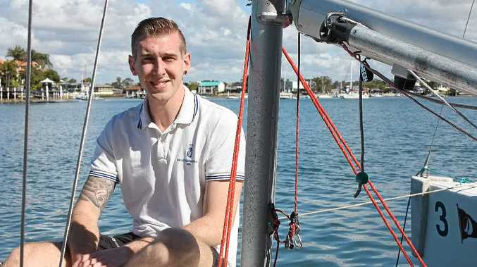 SETTING SAIL: Billy Golbourn is now the poster boy for a Mooloolaba Yacht Club bid to re-engage veterans in the community through the sport.