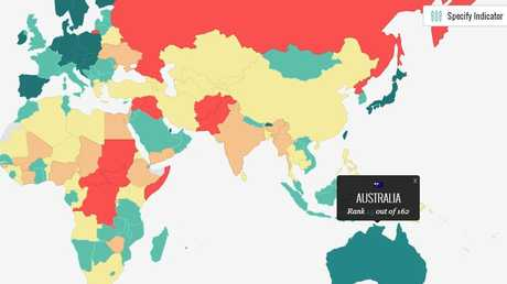 Global Peace Index from the IEP