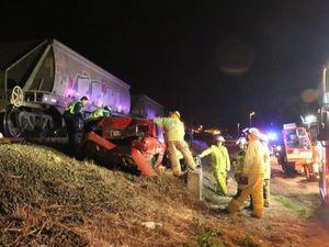 Crash between car and coal train closes Gatton crossing