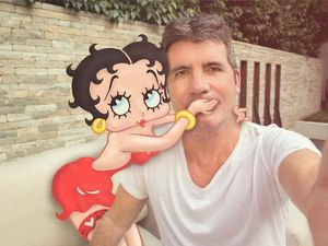 Simon Cowell making Betty Boop film