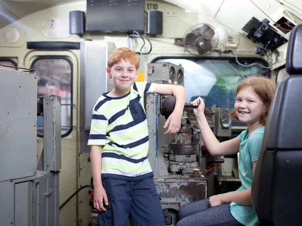 OPEN DAY: Children will have the opportunity to explore the many exhibits at the Workshops Rail Museum.
