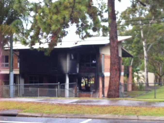The infant block at Bli Bli State School has been extensively damaged by fire. Photo: Tabitha Bulley via Facebook