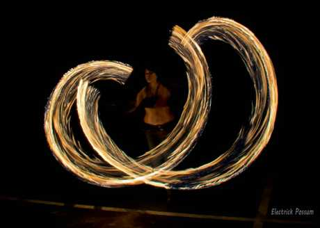 Jessica Forrest posted this photo of fire twirling.