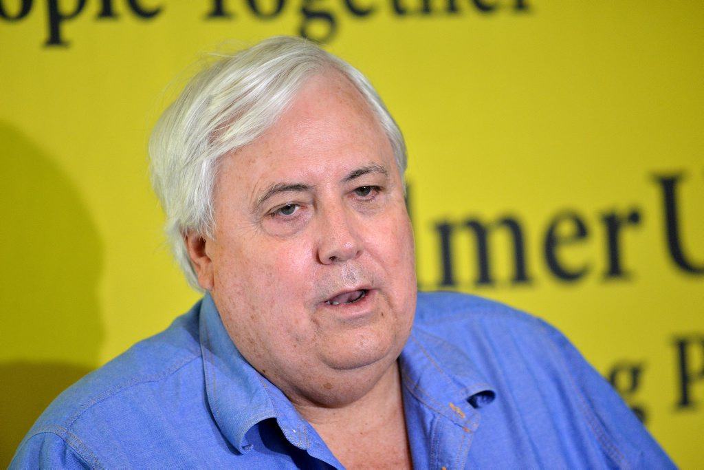 Queensland Nickel owner and Federal Member for Fairfax Clive Palmer