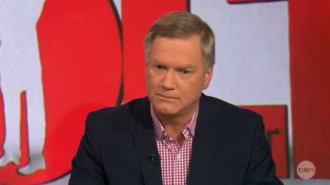 Andrew Bolt's reaction after being described as a racist by former Labor Minister Dr Craig Emerson