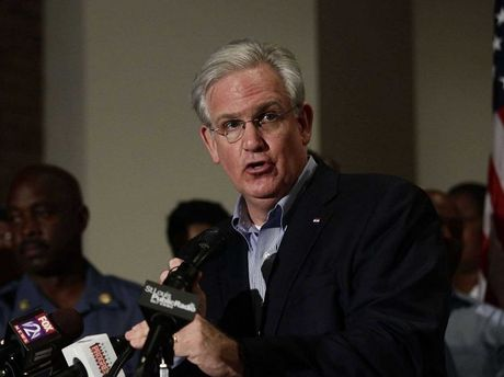 Missouri Governor Jay Nixon holds a news conference on the shooting