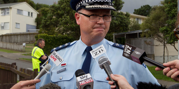 Kapiti-Mana District Commander Inspector Paul Basham during a press conference at Porirua in New Zealand, after the alleged incident.