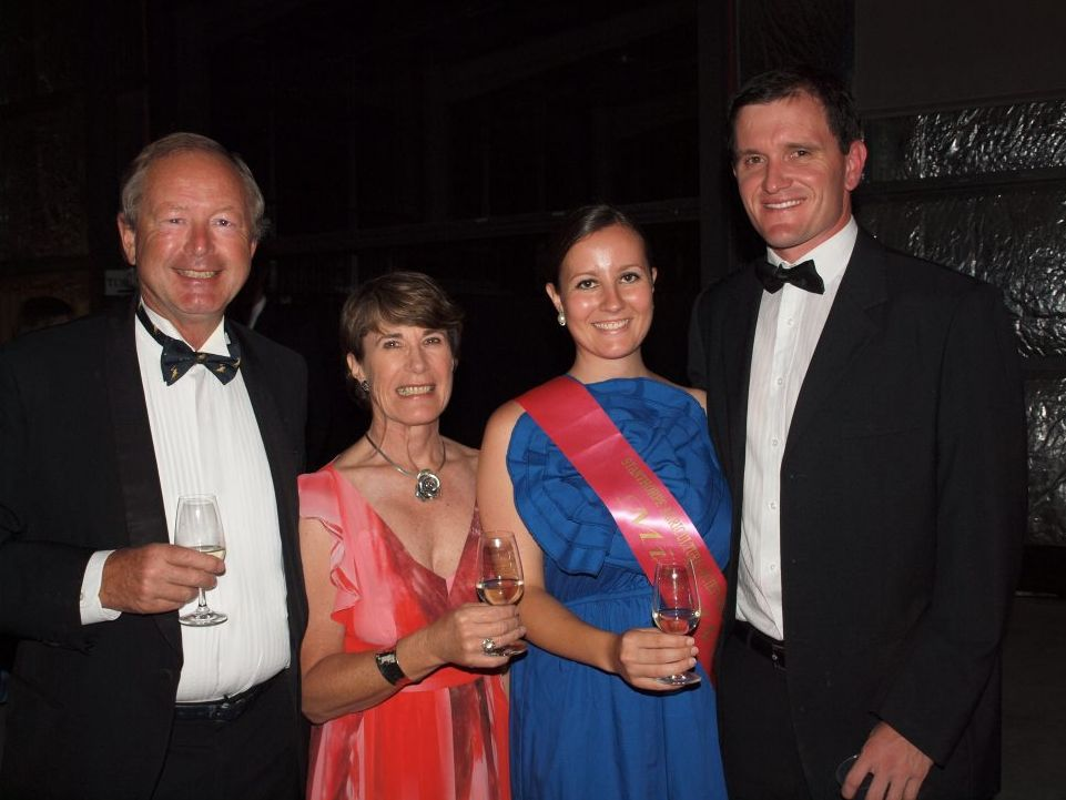 Peggy and Robert Channon, 2011 Stanthorpe Showgirl Emma Channon and Lachlan Campbell Photo Contributed
