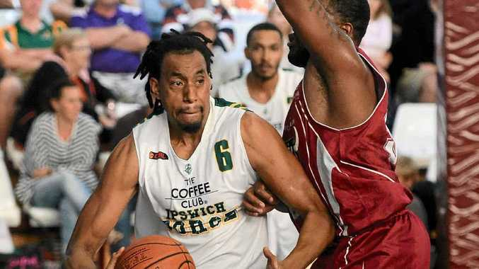 BIG TIME BECKONS: Ipswich Force's Martin Iti in action against the Bundaberg Bulls.