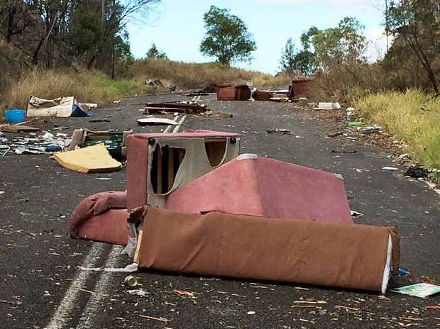 NO RESPECT: Ipswich City Council is cracking down on illegal dumping across the city, such as this mess at Redbank Plains.