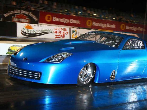 ENTHUSIASTIC: The Nissan 350z John Bradshaw will drive at the upcoming Brisbane Jamboree at Willowbank Raceway.