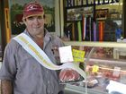 Wayne Hess says buying the best beef on offer at the Ekka is a boon for his shop, and his customers. Hesslands Butchery.