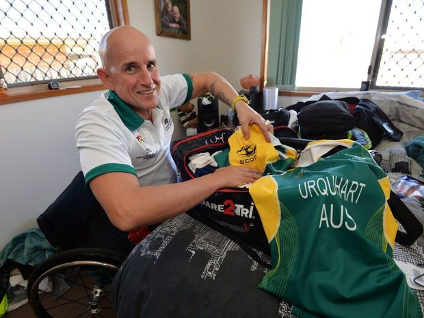 READY SET GO: Mark Urquhart is packed and ready to head off to Canada for the World Triathlon Championships. Photo: Zach Hogg / NewsMail