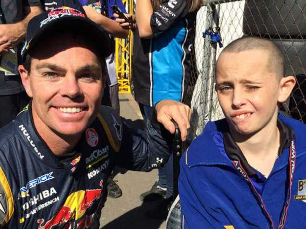 CHANCE OF A LIFETIME: Marcus Brown had the opportunity of a lifetime when he met Craig Lowndes at Queensland Raceway during the Ipswich 400.