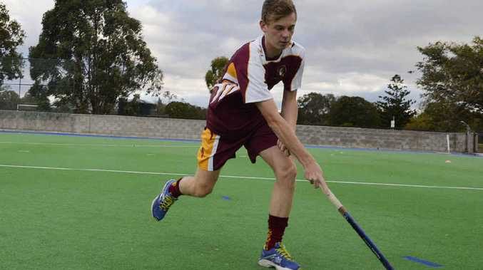 DEVELOPING SKILLS: Queensland Schoolboys representative Jay Pavitt works on his game playing at the Ipswich Hockey Complex.