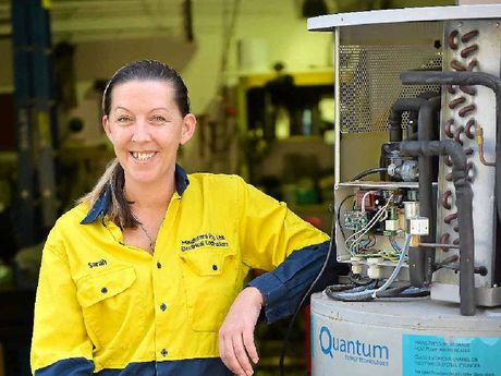 MS FIX-IT: Apprentice electrician Sarah Dahm from Mingleford Electrical Contractors.