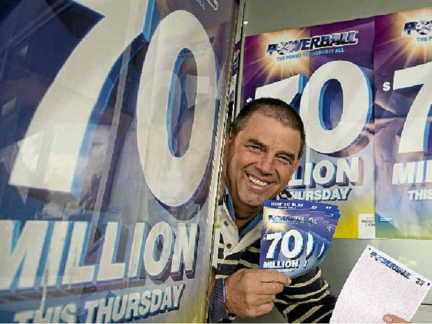 HIGH HOPES: Wyalla News and Post owner Robert Reid is confident he will sell the winning ticket in tomorrow night's $70 million Powerball jackpot.